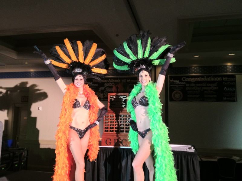 Black & Lime Green Showgirls or Black & Orange Sho