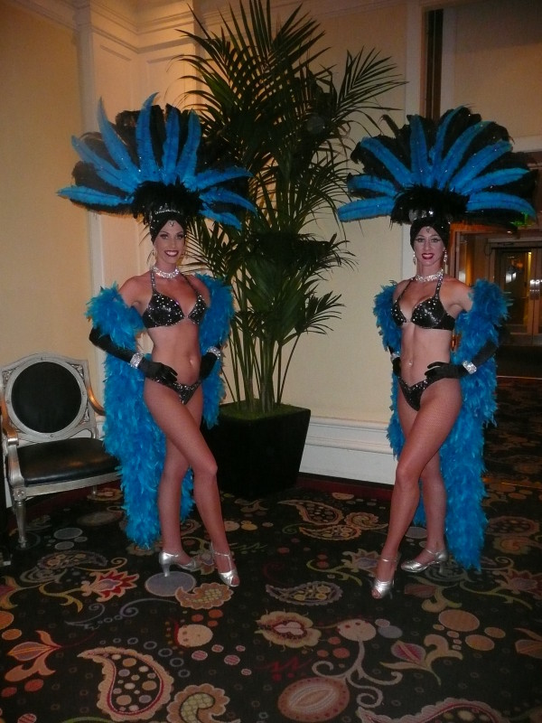 Black & Turquoise Showgirls