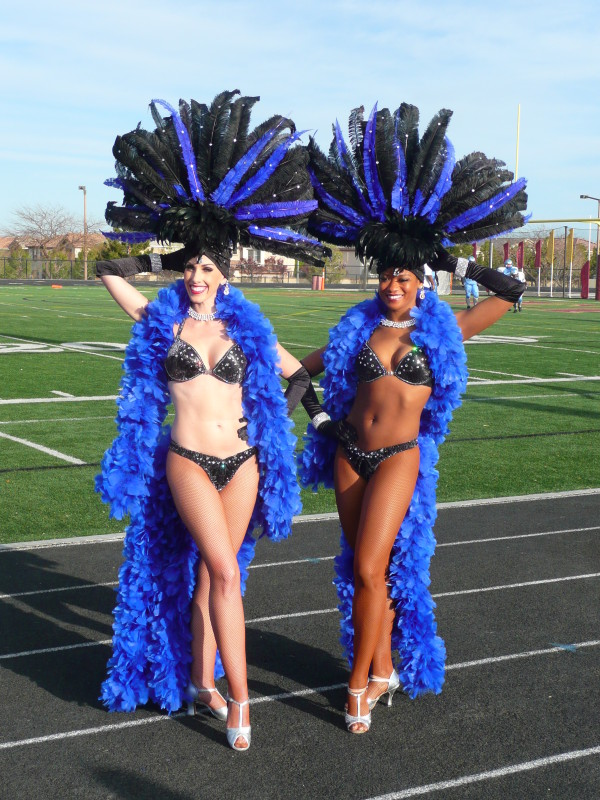 Black & Royal Blue Showgirls