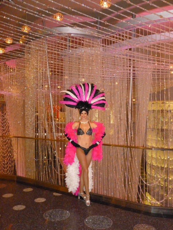 Black, White & Hot Pink Showgirl
